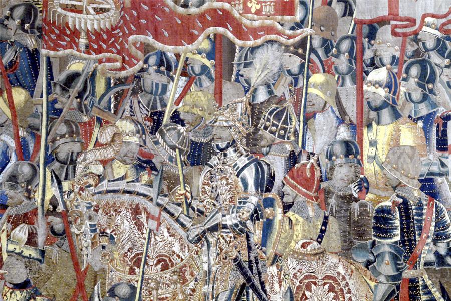 El rey Alfonso de Portugal en la Toma d eArcila, tapiz de Pastrana