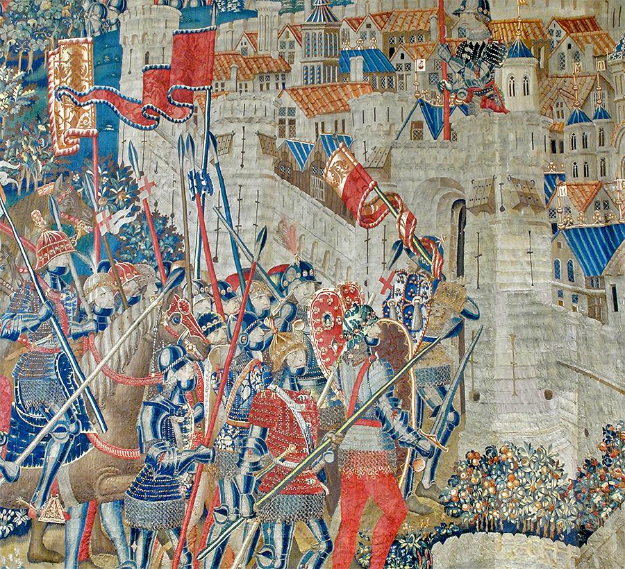 La toma de Tanger por Alfonso V de Portugal, un tapiz de la Colegiata de Pastrana