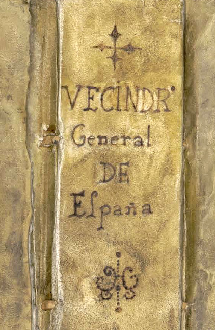 Lomo del Vecindario General de España del marques de Campoflorido