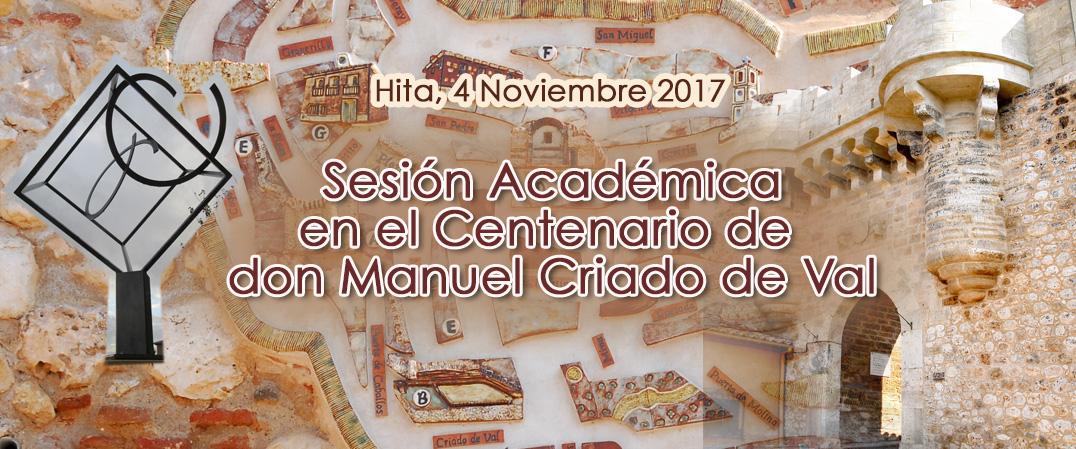 Sesión Académica Oficial en el Centenario de Criado de Val