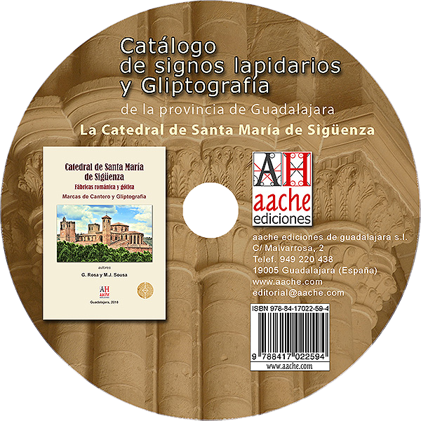 Signos lapidarios y gliptografia y marcas de cantero en la catedral de Sigüenza