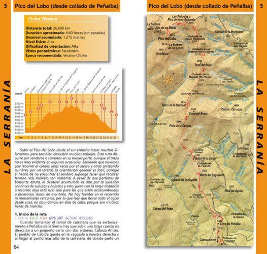 45 rutas a pie por la serrania de guadalajara