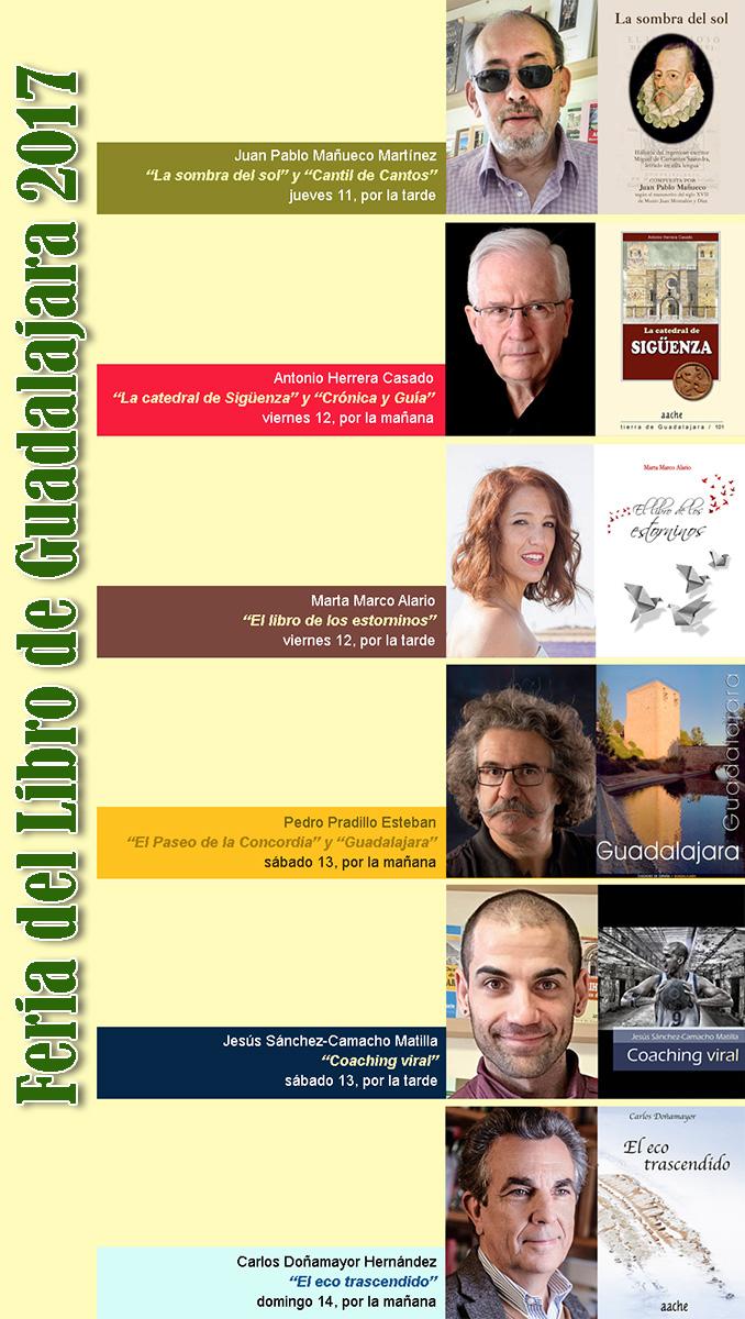 Feria del Libro de Guadalajara 2017, autores que firman sus obras
